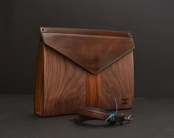 Geometrika Big. Wooden every day clutch and bag