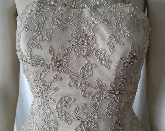 Shimmering goddess, A-line wedding gown