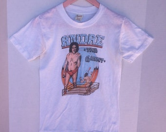 Highly collectible, rare, hard to find Andre the giant t-shirt, size small, 1983