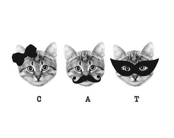 3 of a kind - Cats Temporary Tattoo