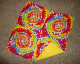Banadanna Rainbow Splatter Blanket, Reversible, Unique Gifts