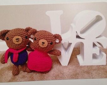 Amigurumi Bears Postcard Set of 5