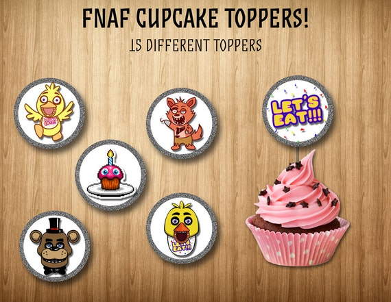 Five Nights at Freddy's cupcake toppers. 15 by ...