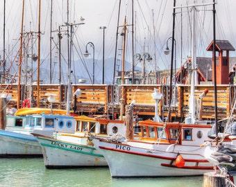 San Francisco Harbor Print-Yacht Harbor Photo-San Francisco Boats-Sailboats Photo-Boats bay Print-Sailboats Harbor- San Francisco Bay