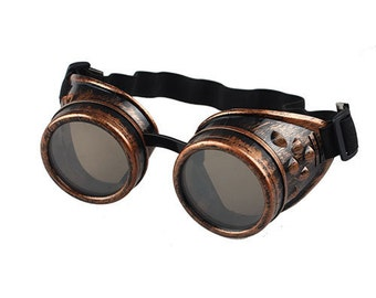 Steampunk Goggles Gothic Vintage Victorian Welding Punk Glasses Cosplay