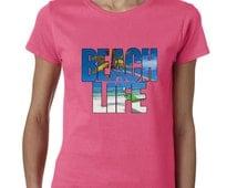 Beach Love Tshirt Cali Girl Tshirt West Coast Beach Lovin Girl Ladies Tshirt