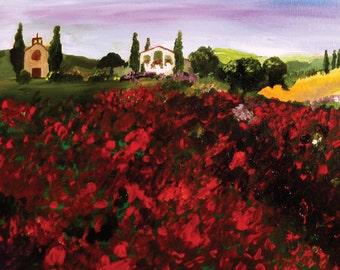 Poppy Field (original hand painted canvas)