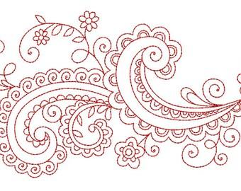 Floral Ornament Embroidery Design (VAR009)