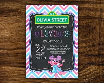 Olivia - Printable Birthday Party Invitation
