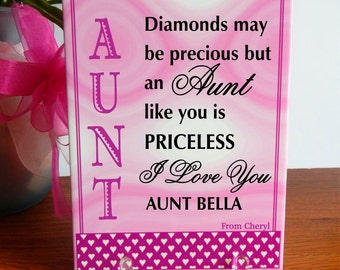 Christmas Gift to Aunt, Aunt Appreciation gift,Thank you Aunt Gift, Aunt Birthday Gift, Special Aunt Gift, Great Aunt Gift, Custom Aunt Gift