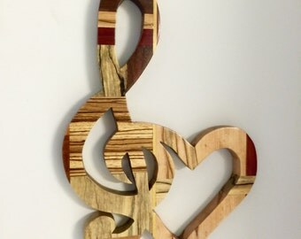 Handmade Exotic Wood Music Note