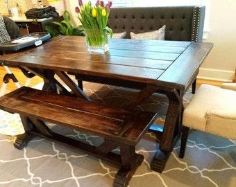 Farmhouse X style table