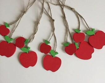5 Handmade Wooden Apples