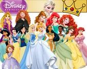 51 Disney Princess Clipart Princess Clip Art Disney PNG Disney Clipart rapunzel brave INSTANT DOWNLOAD