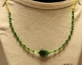 Green Stone Necklace #9-080115