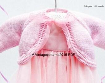 Baby Bolero Knitting Pattern DK  0 - 18 Months  PDF Download