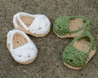 "18 Inch Doll Espadrilles, 18"" Crochet Doll Shoes, American Girl, Doll Clothes, Doll Sandals, Gift"