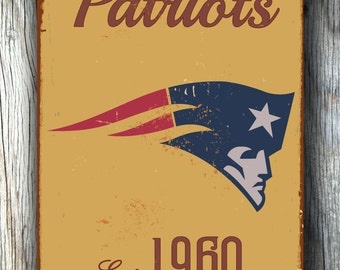 Vintage style NEW ENGLAND Patriots Sign, New England Patriots Est. 1960 Composite Aluminum New England Patriots Sign WORLDWIDE Shipping