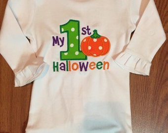 My 1st Halloween onesie for Baby girl or Baby Boy