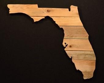 Custom Cut Reclaimed Wood Wall Hangings