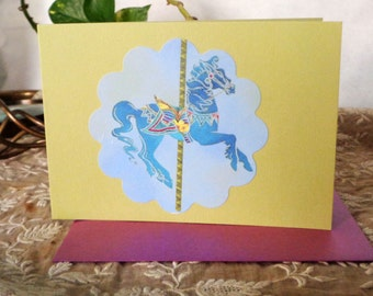 Carousel Horse - Single Card