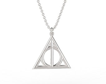 Deathly Hallows Pendant Necklace in 925 Sterling Silver inspired by Harry Potter!