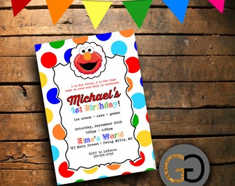 Printable Elmo Birthday Invitation