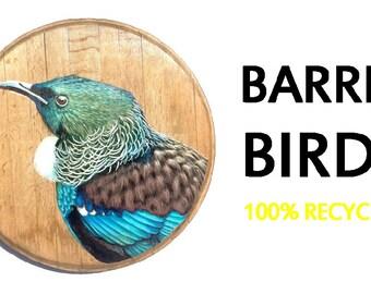 Wine Barrel Birds