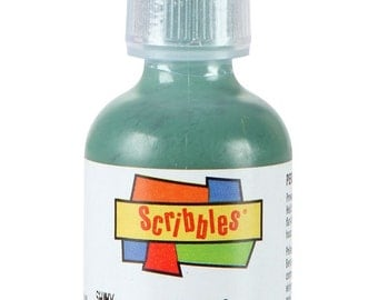 Scribbles Dimensional 3D Fabric Craft Paint Writer Decoden Drizzle Deco Sauce, Decoden, Kawaii - Shiny Hunter Green