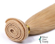Hand Tied Honey Blonde Color #27 Virgin Remy Human Hair Weft