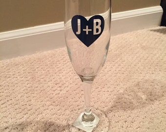 Personalized Champagne Flute