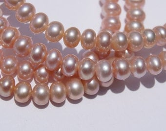 Pink Button Pearls 5.5mm