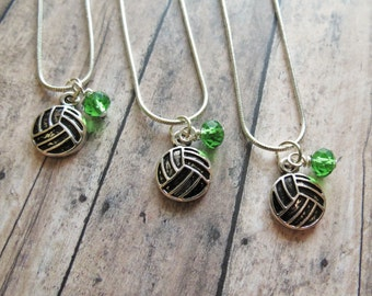 Volleyball Team Necklace, Volleyball Team Gift, Volleyball Charm Necklace, Party Favors, Volleyball Necklace, Volleyball Jewelry, Gift