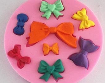 FM089 bows, silicone mold, fondant mold, cake decoration mold, chocolate mold, lace mold,