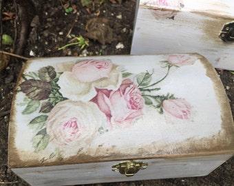Wooden jewellery/ letters/ memories box