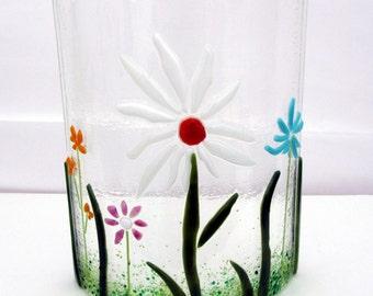 Decorative Fused Glass Floral Arrangement - Single Flower
