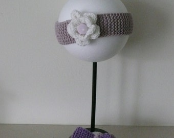 Hand Knitted Flower Headband