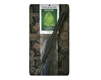 REAL Moldavite Stone Incense (authentic essence)