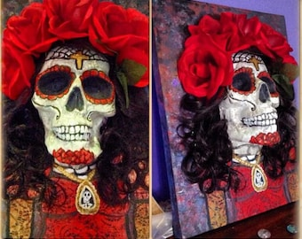 3D Day of The Dead Painting
