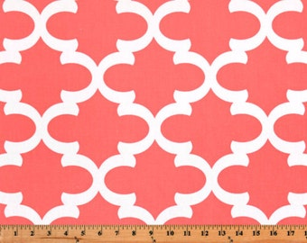 Premier Prints Fynn in Coral Home Decor fabric, 1 yard 7 oz Cotton