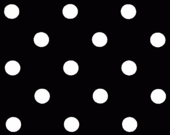 Premier Prints Polka Dot in Black White Twill Home Decor fabric, 1 yard