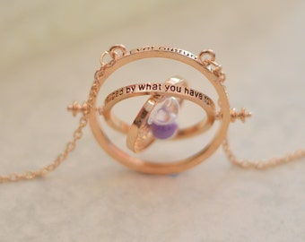 Harry Potter Time Turner Necklace With Coloured Sand