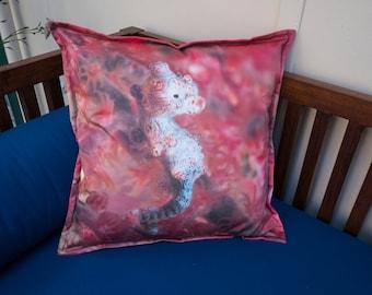 Cushion Cover Handmade Using Original Underwater Image - Pygmy Seahorse