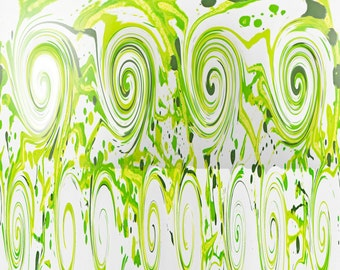 """Abstract Art Print - """"Curly Greens"""""""