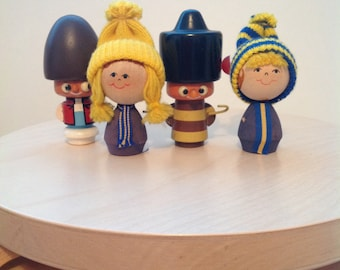 Collection of wooden figures, swedish, Russian