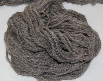 Hand Spun Shetland Wool Yarn - Gray