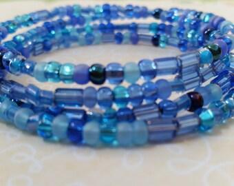 Sale! Cool Blue Beaded Bracelet