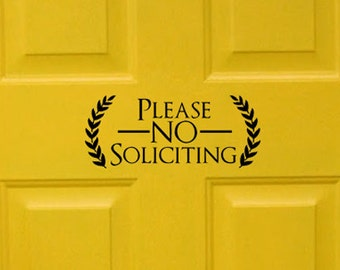 Please No Soliciting Vinyl Decal Sticker Label Solicitors Sign Trespassing - BLACK 2 (FREE SHIPPING!!!)