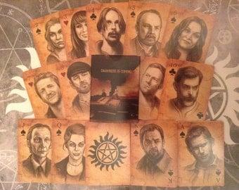 """Poker cards """"Supernatural"""""""