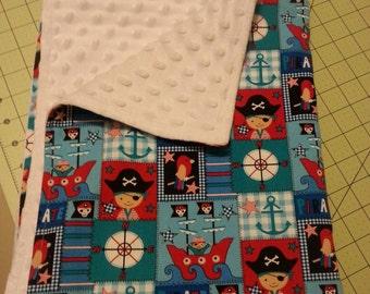 Baby boy pirate blanket